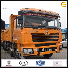 10 wheel rubbish tilt truck with 3 axle - Shacman D'long brand