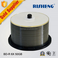 RISHENGblu ray disc 25gb 50gb/ disc of blu ray dvd cmc 50gb printable/cake box packing 10 tdk bluray recordable disc 50g