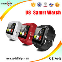 Low price U8 hot sale china watch mobile phone U8 smartwatch