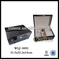Luxury Black Velvet Lined Jewelry Boxes Packing with Custom Logo on Wholesale (SGS&BV)