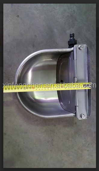 Stainless steel water drinking bowl for cow/cattle