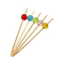 Beads Decoration Cocktail Party Accessories Snacks Bamboo Fruit Picks