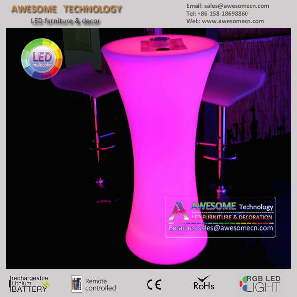 stand up led illuminated spandex cocktail bar table (TP110B)