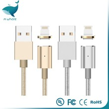 3 in 1 Nylon Woven Braided Magnetic Adhesion USB Cable for iPhone Android Mobile Phones for Xiaomi