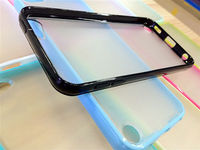 Semi Clear Plastic Bumper Transparent TPU + PC Case for iPhone5