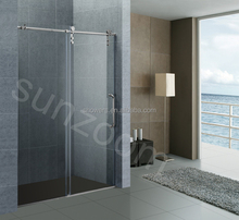 SUNZOOM North-American market Brushed stainless steel <strong>hardware</strong> for bypass shower door