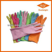 Supply Long Cuff Latex Household Glove / Colored Household Latex Glove Factory