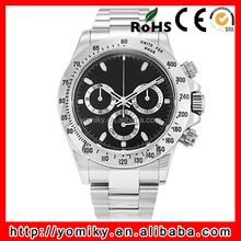 Luxury custom brand 10 atm water resistant chronograph watch