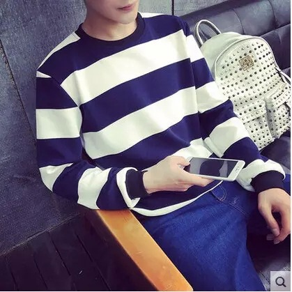 Wholesale high quality 100% Cotton stripe long sleeve <strong>T</strong>-<strong>Shirts</strong> for men