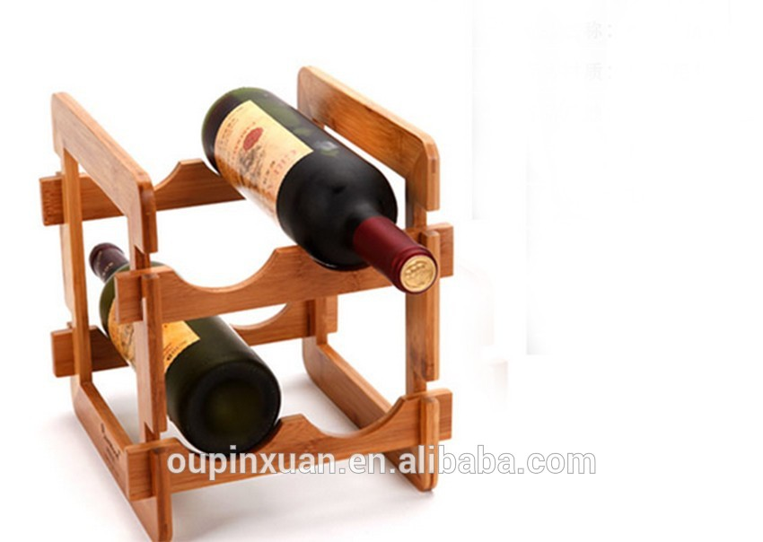 Hot selling bamboo DIY wine rack , funy removable living room furniture.