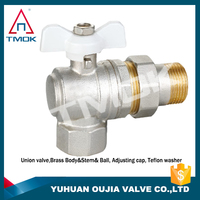 pn15 cw617n brass ball valve High quality and forged nickel-plated NPT threaded connection with PPr hydraulic motorize