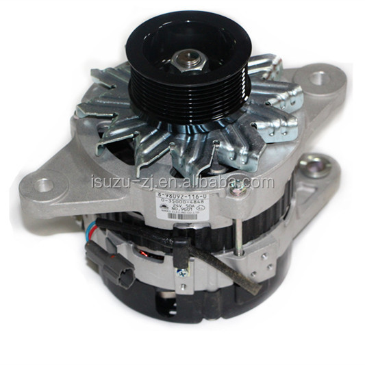 High performance diesel Engine spare parts Alternator generator assembly 24V/50A 8-98092116-0