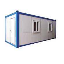 good design flat roof prefab container house solar outdoor coffee kiosk