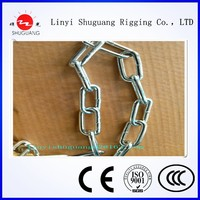 GAVANIZED OR SELF COLOR HIGH QUALITY ENGLAND LONG LINK CHAIN MADE IN CHINA