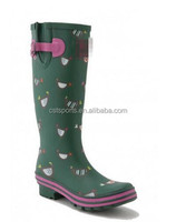 Buy chicken printed rubber rain boots, long rubber boots ,cheap ...