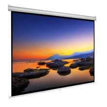 Factory Price 80 Inch manual Projector Screen 16:9 aspect ratio projection screen