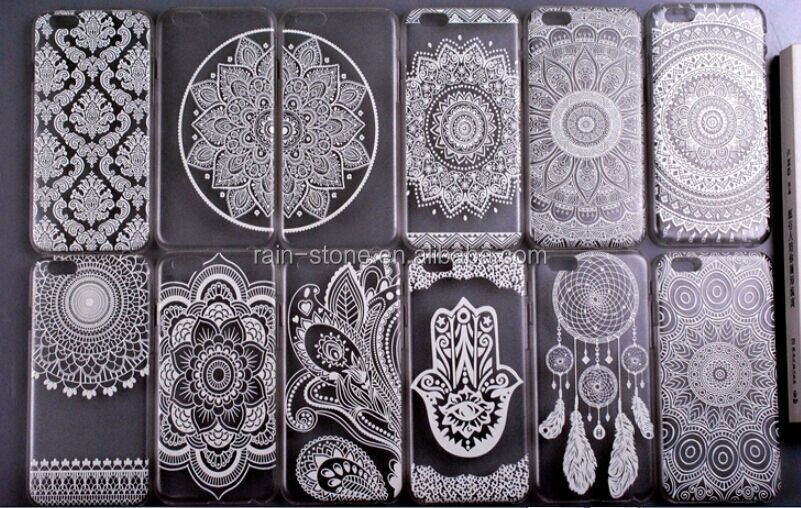 Henna Damask Totem Slim Fitting Hollow Case for iPhone 5 Crystal Back Cover