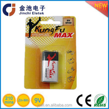 0% Lead Zinc Chloride Dry 9V 6f22 battery 0% Lead Zinc Chloride Dry 9V 6f22 battery