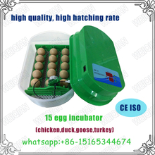 Hot sale egg incubator ,Factory price Mini 15 egg hatcher for sale WQ-15