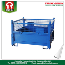 Heavy duty industrial warehouse folding storage cage rack