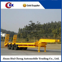3 axles Low bed semi trailer 40-100 tons dolly semi-trailer