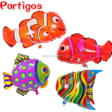 Partigos Clown Fish Balloons Sea Creatures Tropical Fish Helium Ballon Party Decor Cartoon Kids Toys Baby Shower Globos