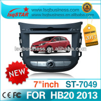 Car radio for 2013 Hyundai HB20 with USB GPS Bluetooth DVD MP3 MP4 player with best price ST-7049