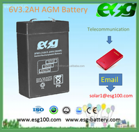 6V 3.2AH battery sealed lead acid battery rechargeable battery for solar system