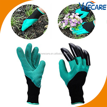 Rubber Latex Garden Gloves Latex ABS Plastic Claws Household Digging Gloves