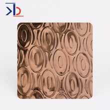 rose gold mirror stamped plate 2D 3D pattern stamping sus 304 <strong>stainless</strong> steel decorative sheet metal for KTV decoration