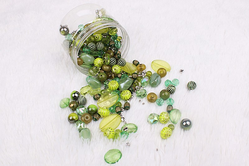China express packed in box fashion colored bead diy jewelry
