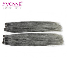 Top quality human hair peruvian gray remy hair extensions