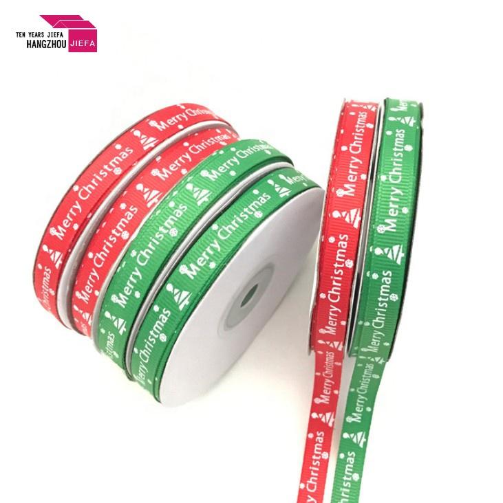 Wholesale Christmas Celebrate it Ribbon Custom Logo Ribbon