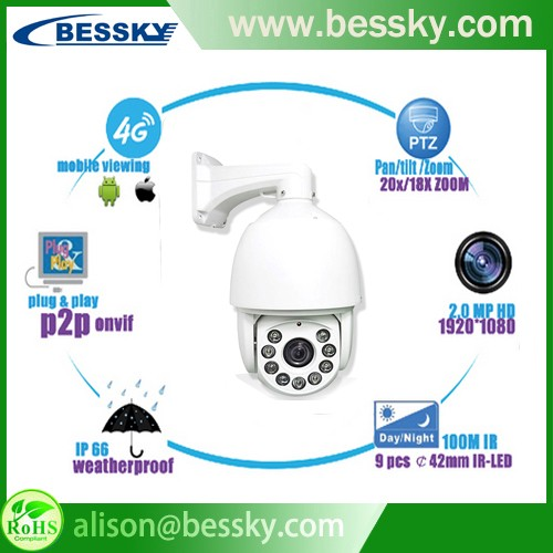 Bessky High Speed Dome IP Camera Auto Tracking PTZ