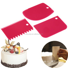 3Pcs Cake Scraper Pastry Butter Dough Cookie Edges Scraper Cake Smoothers DIY Cutter Baking Tools Decorating Accessories