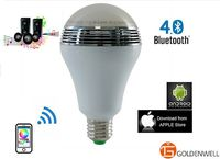Smart Led Light Bulb Speaker with Color Changing Adjusted with Wifi Remote Control For iPhone Android