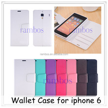Luxury Magnetic Flip PU Leather Wallet Case Cover Stand for iphone 5 / 5S /5C / 4 / 4S / 6 / 6 Plus /3G