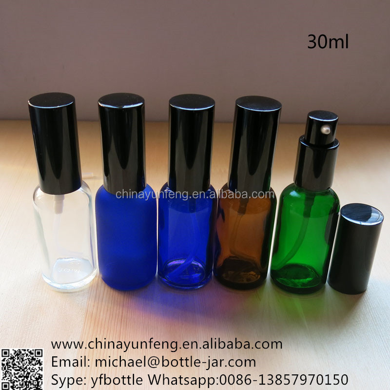 30ml essential glass bottles with pump