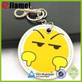 keyring leather factory cheap custom made soft pu leather keychain