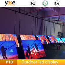 Factory price outdoor p10 building led billboard/hs code for p10 led display screen