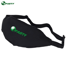 2016 high quality waterproof black fanny pack waist bag