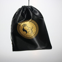 Good Quality Virgin Hair Pouch Satin Toy Packaging/Silk Bags