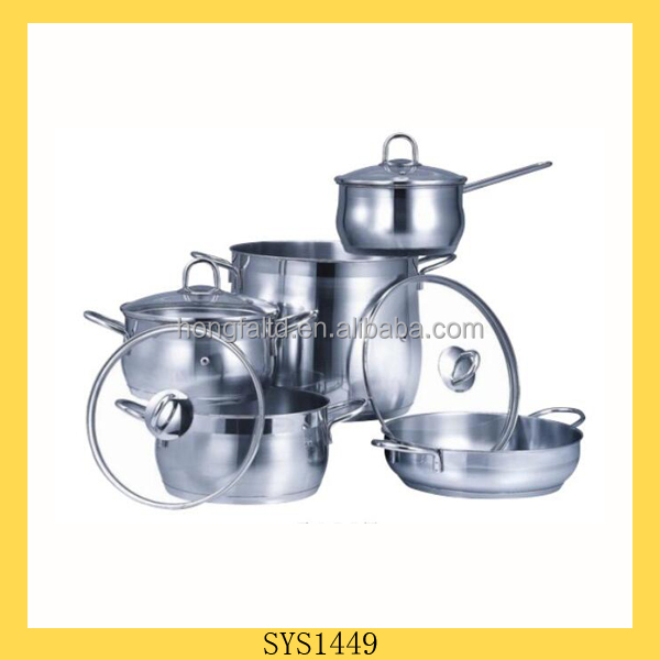Brand new belly shape 9 pcs cookware with high quality