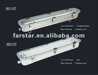 T8 stainless steel fluorescent lighting fixtures with LED tubes CE EMC approved