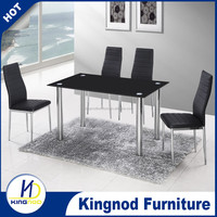 small Size Rectangle Modern Dining Table Set Designs