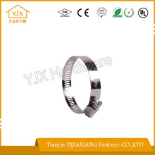 SS201/304 Worm Gear American Type Hose Clamp Teeth Band