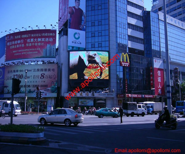 one/two pole support video advertisnig P16 led sign