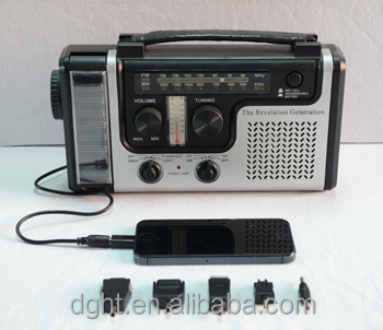 solar Dynamo LED Flashlight radio