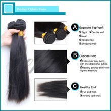 Unprocessed natural virgin raw indian hair bundle for wholesale