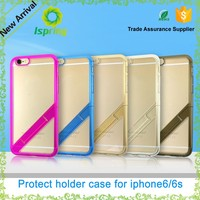 New design PC+TPU cell phone case holder, cheap mobile phone cover holder for iphone 6